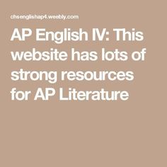 AP English IV: This website has lots of strong resources for AP Literature Teaching American Literature, Ap Literature, British Literature, Teaching Boys, Teaching Reading, Reading Lessons, Teaching Ideas, Ap English, English Lessons