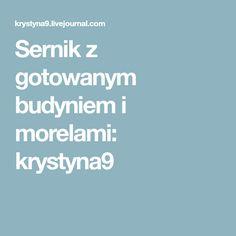 Sernik z gotowanym budyniem i morelami: krystyna9