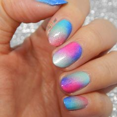 Sponged Mani with Picture Polish Shades