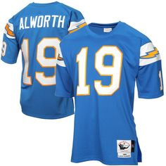 38e08e73 Mens San Diego Chargers Lance Alworth Mitchell & Ness Light Blue Authentic  Throwback Jersey