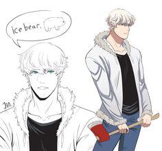 we bare bears ice bears as human We Bare Bears Human, Ice Bear We Bare Bears, We Bear, Animated Cartoons, Cool Cartoons, Disney Cartoons, Anime Vs Cartoon, Cartoon Shows, Bear Tumblr