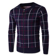 2016 Men Zipper Jackets Knitted Sweaters Sweatercoats Cardigans Men's Casual Fashion Slim Fit Long Sleeved O Neck Winter Sweater