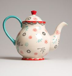 Folk Bird Handpainted Teapot   Kitchen Accessories   Coming soon   Wholesale Giftware, Gifts and Interior Decor   RJB Stone Ltd.