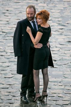 Sting was still seen kissing another woman, Mylène Farmer, on Thursday morning - although, thankfully, only for his role in a new music video Mylene Farmer Sting, Nylons And Pantyhose, Music Icon, New Moon, Female Singers, Celebs, Celebrities, Clip, Powerful Women
