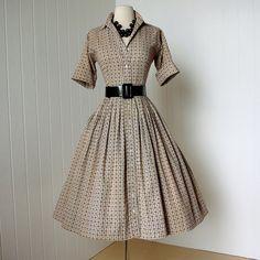 1950's cotton shirtwaist dress