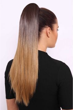 All hair makeover: get the latest ombre ponytail Long Hair Ponytail, High Ponytail Hairstyles, Long Ponytails, Half Ponytail, Clip In Ponytail, Straight Ponytail, Sleek Ponytail, Straight Hairstyles, Ponytail Hair Piece