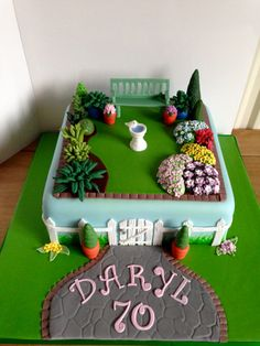 70th Garden Birthday Cake