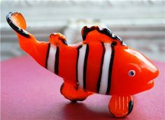 Fitz+and+Floyd+Collectibles | ... Fitz and Floyd Glass Menagerie Clown Fish 2004 / RARE Collectible/Fi