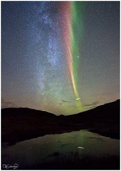 Milky Way + Aurora + Shooting star!!! :)      Copyright: Ole Christian Salomonsen  — at October 26th, Kvaløy, Tromsø.