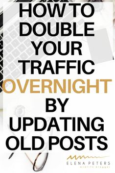 How To Double Your Traffic By Updating Old Posts - Getting More Traffic - Ideas of Home buying process - Updating old posts can literally double your traffic overnight if you take the time to do it right. Click through for the 10 step process. Marketing Digital, E-mail Marketing, Affiliate Marketing, Content Marketing, Business Marketing, Social Media Trends, Social Media Plattformen, Make Money Blogging, How To Make Money
