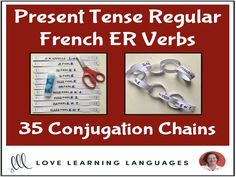 Futur Simple French ER Verbs - Primary French conjugation chains - Cut and pasteThis literacy center or independent work activity for primary core French or primary French immersion is a fun, hands-on way for your students to p. French Verbs, French Teacher, Teaching French, Passe Compose French, Teaching Materials, Teaching Resources, Futur Simple, High School French, French Flashcards