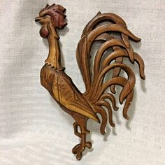 Sexton Metal Rooster Wall Plaque MCM 6.5in Tall Farmhouse Country Aluminum