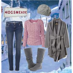 Hermione in Hogsmeade, created by notsowitty on Polyvore