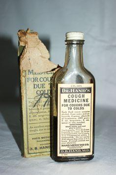 DR HANDS Cough Medicine Vintage Bottle by Sarasotalife on Etsy