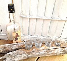 Drift Wood Shot Glass HolderWooden Shot by OceanStateofMindRI, only for the ridiculous price of $40.75.