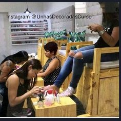 Image may contain: 1 person, sitting - Decoration For Home Nail Salon Design, Home Nail Salon, Nail Salon Decor, Beauty Salon Decor, Salon Interior Design, Manicure Y Pedicure, Nail Spa, Nail Parlour, Pedicure Station