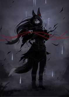Fox with a pencil. Character Concept, Character Art, Concept Art, Fox Fantasy, Fantasy Art, Fantasy Characters, Anime Characters, Neko, Anime Monsters