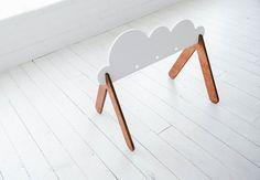 Wooden Baby Gym Cloud Custom Colors van WhiteOakWoodworks op Etsy