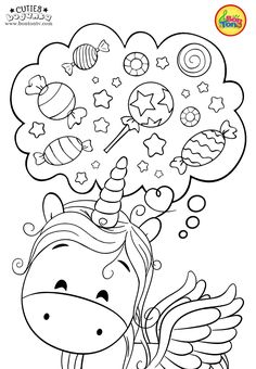 Cuties Coloring Pages for Kids - Free Preschool Printables - Slatkice Bojanke - Cute Animal Coloring Books by BonTon TV Monster Coloring Pages, Preschool Coloring Pages, Unicorn Coloring Pages, Cute Coloring Pages, Animal Coloring Pages, Coloring Pages To Print, Free Coloring, Coloring Books, Free Printable Coloring Sheets