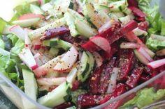 cucumber beet radish salad
