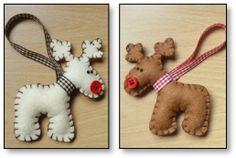 Felt Reindeer Christmas Ornaments!