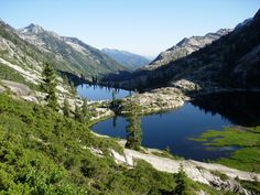 Canyon Creek lakes in the Trinity Alps of California