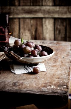 Rustic, with grapes. Photograph by Yinjia. #food_photography