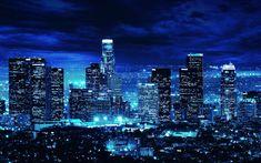 Télécharger fonds d'écran Los Angeles, 4k, des bâtiments modernes, des paysages nocturnes, LA, états-unis, l'Amérique