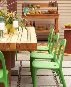 Gartengestaltung-Terrasse Küche einrichten
