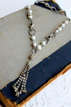 rhinestone pieces & pearls