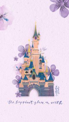 Déjà deux ans que j'ai dessiné le château de Disneyland Paris – que vous pouvez revoir ici – et je trouvais qu'il avait pris un sacré coup de vieux ! Vous avez été plusieurs à me dire que ça serait chouette de le restaurer, de le redessiner afin de vous le repartager en fond …