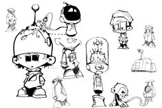 crazy robot character - Google Search