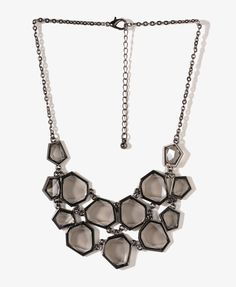statement necklace: faceted geo bib from F21