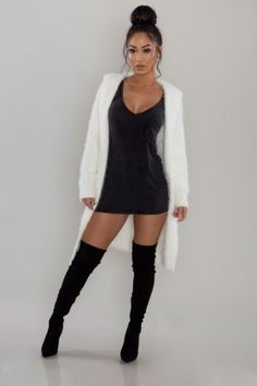 Mohair Hooded Cardigan - Off White