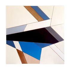 Blue Ray #2 - wooden mosaic wall panel. 92cm x 92cm x 3cm