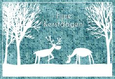 """Merry Christmas"" card I illustrated (2012), more on www.marloeskiezebrink.com"