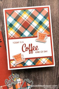 Homemade Birthday Cards, Homemade Cards, Card Making Inspiration, Making Ideas, Redbox Gift Card, Coffee Cards, Card Sentiments, Stamping Up Cards, Fall Cards