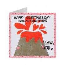I Love You Brilliant Boyfriend Valentine's Day Card