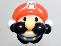 バルーンアート【マリオ】 Balloons And More, Mini Balloons, Balloon Crafts, Balloon Decorations, Super Mario, Balloon Face, Twisting Balloons, Diy And Crafts, Arts And Crafts