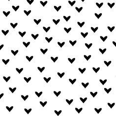 Little Black Hearts on White fabric by boco_baby on Spoonflower - custom fabric