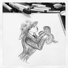 #inspiration #floral #flower #girl #poppy #painting #drawing #sketch #art #artwork #illustration @art.fashion.inspiration