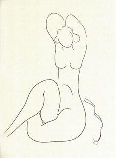 Henri Matisse, Il torso nudo e nativo, 1932, incisione da Mallarmé.