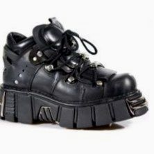 Shoes & Bags New Rock M.8330-S1 Ladies Womens Ankle Boots Black Leather Platform Wedge Slip On Zip Closure Buckle Heavy Gothic Biker Women's Shoes