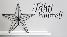 Himmeli tutorial, pillihimmeli, straw himmeli, star himmeli, tähtihimmeli Christmas Love, Christmas Crafts, Christmas Decorations, Diy Projects To Try, Crafts To Make, Diy Straw, Star Diy, Paper Flower Tutorial, Wire Crafts
