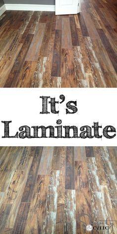 Rustic Laminate Flooring rustic laminate flooring Reclaimed Looking Laminate House Update
