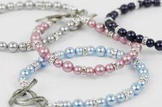 Cancer Awareness Bracelet with Swarovski® Pearls