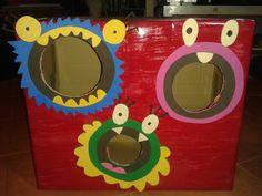 Tragabolas o tiro al blanco infantil, Manualidades infantiles, Monstruos www.lafraguadecimmeria.com