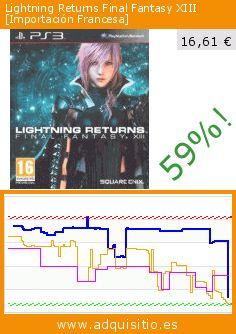 Lightning Returns Final Fantasy XIII [Importación Francesa] (Videojuegos). Baja 59%! Precio actual 16,61 €, el precio anterior fue de 40,39 €. https://www.adquisitio.es/square-enix/lightning-returns-final-3