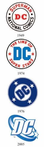 The progression of the DC logo is pretty interesting. It started out simple, but as time went on, it started to get more complex and flashy. When you want to get peoples attention, I guess you have to be.