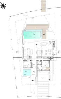 large student home apartment home complex Contemporary House Plans, Modern House Plans, Small House Plans, Home Design Floor Plans, House Floor Plans, Drawing House Plans, Large Floor Plans, Plan Sketch, Villa Plan